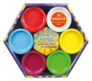 CRAZE Magic Sand homokgyurma 6 színű alapkészlet