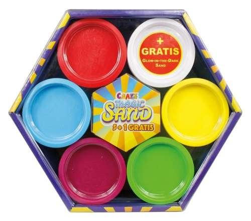 CRAZE Magic Sand homokgyurma - 6 színű alapkészlet