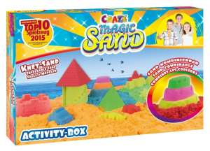 CRAZE Magic Sand homokgyurma - Activity-Box kezdő építő szett 700 g