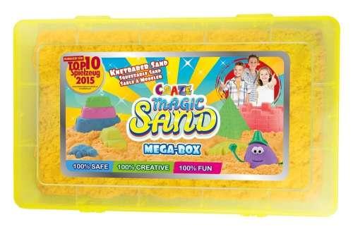 CRAZE Magic Sand homokgyurma - Mega-Box kezdő építő szett műanyag dobozban 700 g