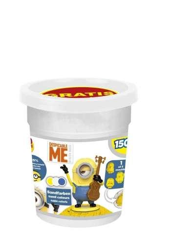 CRAZE Magic Sand homokgyurma - utántöltő csomag + figura Minyonok 150g #fehér