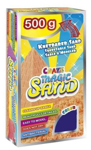 CRAZE Magic Sand homokgyurma - utántöltő csomag LILA 500 g