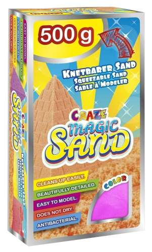 CRAZE Magic Sand homokgyurma - utántöltő csomag PINK 500 g