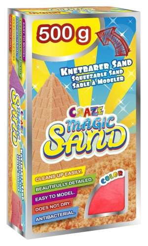 CRAZE Magic Sand homokgyurma - utántöltő csomag PIROS 500 g