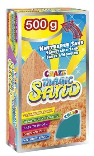 CRAZE Magic Sand homokgyurma - utántöltő csomag TÜRKIZ 500 g