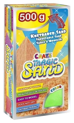 CRAZE Magic Sand homokgyurma - utántöltő csomag ZÖLD 500 g