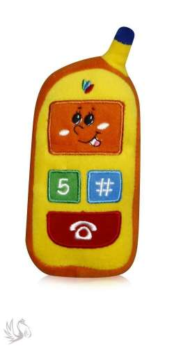 Lorelli - Toys Plüss mobiltelefon #narancssárga-sárga