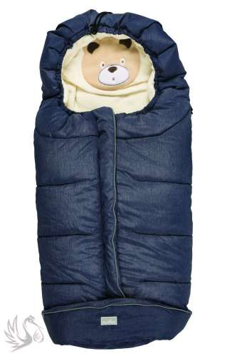 Nuvita 9605 Gyermek bundazsák - Macis melanzs kék/bézs