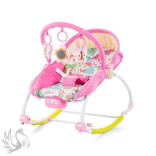 Chipolino Relax rezgő-zenélő pihenőszék - pink