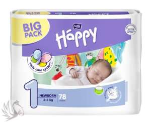 Bella Happy Newborn 78 db pelenka 2-5 Kg - BIG PACK