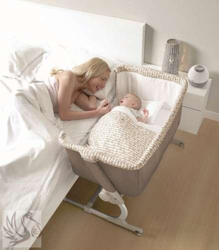 Jané BabySide szülői ágyhoz csatlakoztatható Kiságy #bézs #2017
