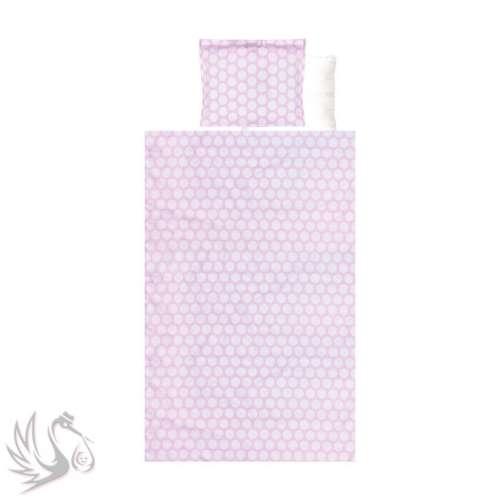 Lorelli 4 részes mintás ágyneműgarnitúra - Pöttyös pink