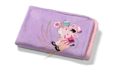 BabyOno babaTakaró mikroszálas 3D kétoldalas #75x100cm #rózsaszín-lila