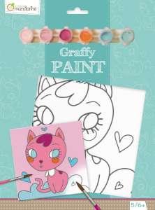 Avenue Mandarine - Festővászon előre rajzolt mintával cica szívecskékkel 30403726