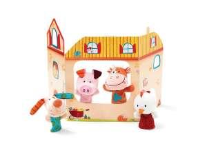 Lilliputiens Farm bábszínház ujjbábokkal 30404330 Báb játék