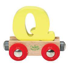 Vilac - Q - mágneses fa betű vagon 30404072