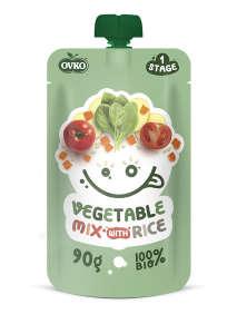 Ovko Bio Zöldségmix rizzsel 6hó/90g - 16db 30212369 Bébiétel, snack