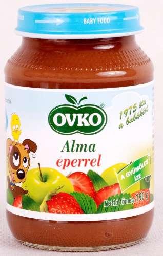 Ovko glutén- és tejszármazékmentes alma eperrel bébidesszert 4 hó//190g 12db