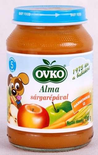 OVKO tejszármazék és gluténmtens Alma sárgarépával bébiétel 5hó/190g - 12 db