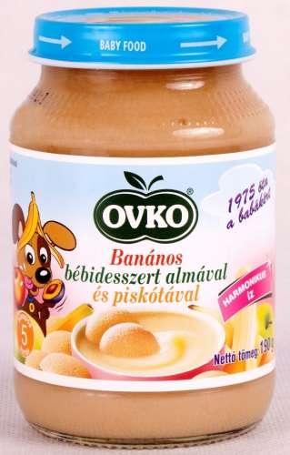 OVKO banános bébidesszert almával és piskótával 5hó/190g 12db
