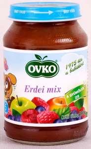 Ovko Glutén- és tejszármazékmentes Bébidesszert - erdei mix  5hó/190g - 12db  30212383 Bébiétel, snack