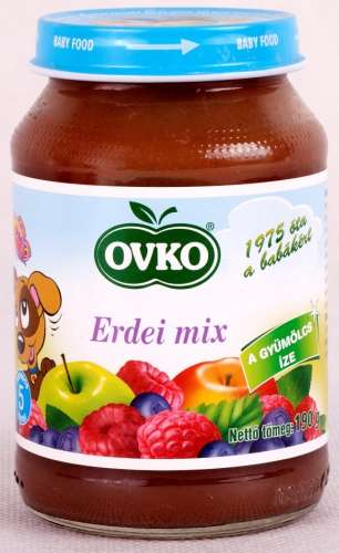 Ovko Glutén- és tejszármazékmentes Bébidesszert - erdei mix  5hó/190g - 12db