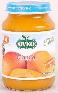 Ovko Glutén- és tejszármazékmentes Bébidesszert - mangó  4hó/190g - 12db 30212385