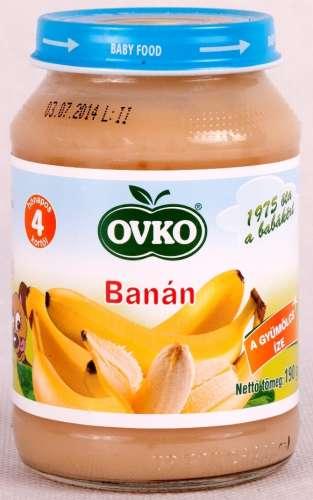 OVKO glutén- és tejszármazékmentes banán bébidesszert 5hó/190 g - 12 db