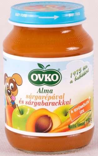 OVKO glutén- és tejszármazékmentes alma-sárgarépa-sárgabarack bébidesszert ~ 12 db