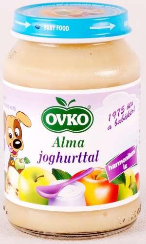 OVKO gluténmentes alma joghurttal bébidesszert 5hó/190 g - 12 db