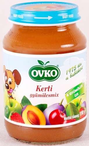 OVKO glutén- és tejszármazékmentes kerti mix bébidesszert 7hó/190 g-12 db