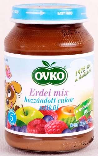 OVKO glutén-, tejszármazék- és hozzáadott cukor mentes erdei mix bébidesszert 5hó/190 g-12 db
