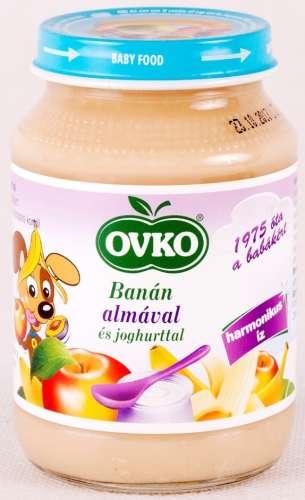 OVKO gluténmentes banán almával és joghurttal bébidesszert 5hó/190 g - 12 db