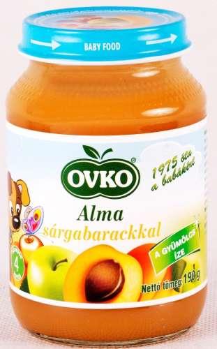 OVKO gluténmentes Alma sárgabarackkal bébiétel 4hó/190g - 12 db