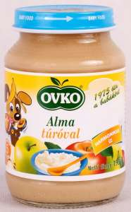 Ovko Alma túróval bébidesszert 5 hó/190g - 12db  30213110 Bébiétel, snack