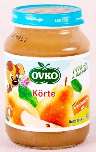 OVKO glutén- és tejszármazékmentes körte bébidesszert 4hó/190 g - 12 db