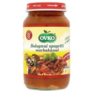 Ovko Bébiétel Bolognai spagetti marhahússal 8 hó/220 g -12db