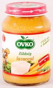 Ovko gluténmentes #zöldség lazaccal bébiétel 5 hó/190g 12db 30213114