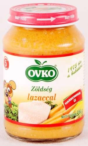 Ovko gluténmentes zöldség lazaccal bébiétel 5 hó/190 g - 12db