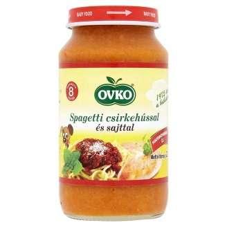 Ovko spagetti csirkehússal és sajttal bébiétel 8 hó/220 g 12db