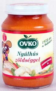 Ovko Glutén- és tejszármazékmentes Bébiétel- nyúlhús zöldséggel 5 hó/190g - 12db 30213116