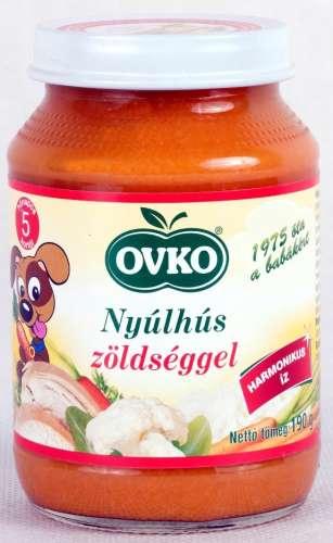 Ovko glutén- és tejszármazékmentes nyúlhús #zöldséggel bébiétel 5 hó/190g 12db