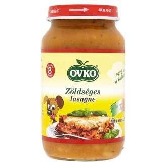 Ovko gluténtartalmú zöldséges lasagne sajttal bébiétel 8 hó/220 g - 12db