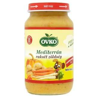 Ovko gluténmentes mediterrán rakott zöldség bébiétel 8 hó/220 g - 12db