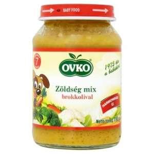 Ovko Glutén- és tejszármazékmentes Bébiétel - zöldség mix brokkolival  7 hó/190g - 12db 30213119 Bébiétel, snack