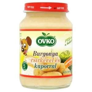 Ovko Glutén- és tejszármazékmentes Bébiétel - burgonya csirkével és kaporral  5 hó/190g - 12db 30213120 Bébiétel, snack