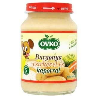Ovko glutén- és tejszármazékmentes burgonya csirkével és kaporral bébiétel 5 hó/190g 12db