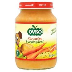 Ovko gluténmentes #sárgarépa burgonyával bébiétel 4 hó/190g 12db 30213122 Bébiétel, snack