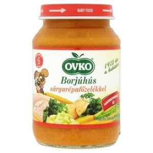 Ovko Glutén- és tejszármazékmentes Bébiétel - borjúhús sárgarépafőzelékkel 6 hó/190g - 12db 30213124 Bébiétel, snack