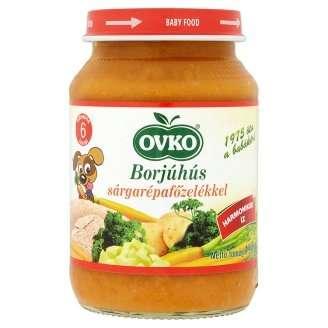 Ovko glutén- és tejszármazékmentes borjúhús #sárgarépafőzelékkel bébiétel 6 hó/190g